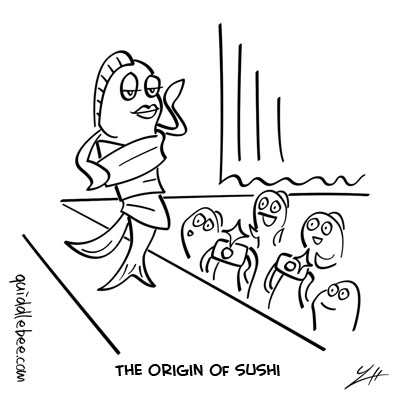 Trendy comics  sushi fish clothing  cartoon