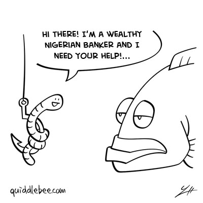 Hook comics  worm fish  cartoon