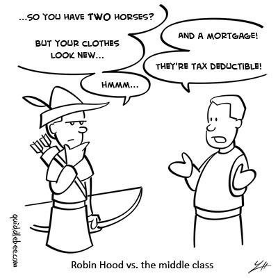 The Wealth of Nations comics  Robin Hood money crime  cartoon