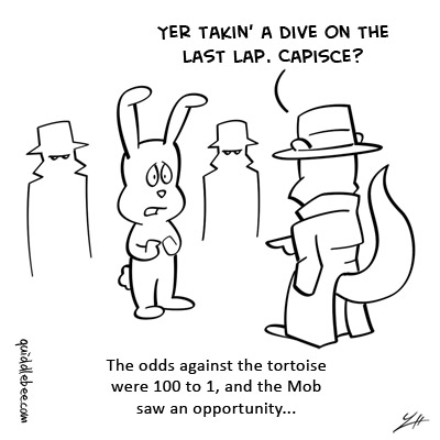 Fixing the Race comics  turtle squirrel race rabbit mob  cartoon