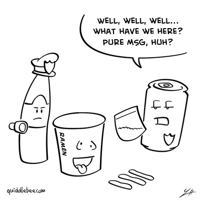 Busted comics  police crime can bottle  cartoon