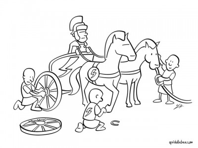 Pit Stop comics  race horse antiquity  cartoon