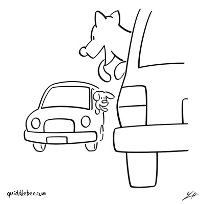 Collision Course comics  dog car  cartoon