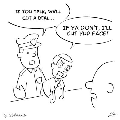Good Cop, Bad Cop comics  puppet police  cartoon