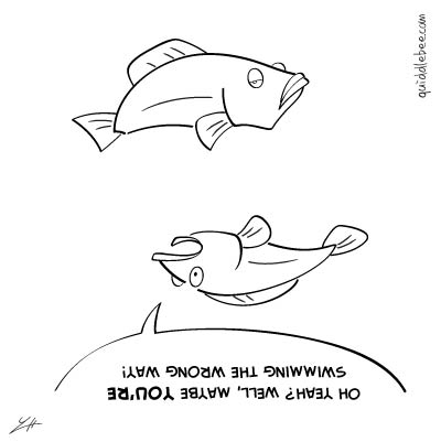 Relativity comics  pool fish  cartoon