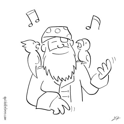 Personal Music Device comics  pirate music bird  cartoon