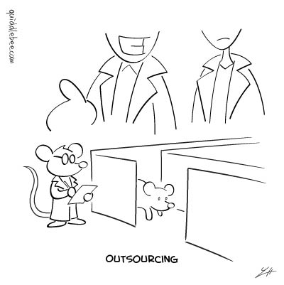 Lab Assistant comics  scientist mouse  cartoon