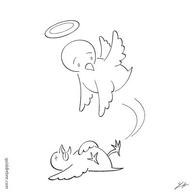 A Wing and a Prayer comics  bird angel  cartoon