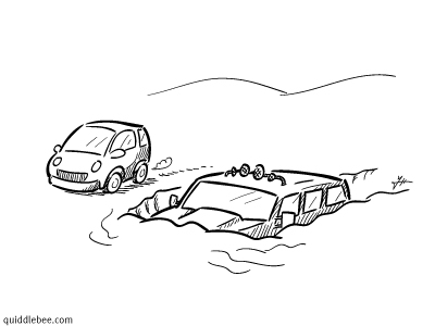 Winter Buoyancy comics  snow car  cartoon