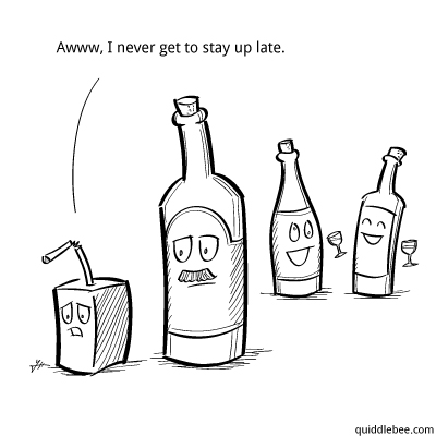 Age Inappropriate comics  party juice alcohol  cartoon