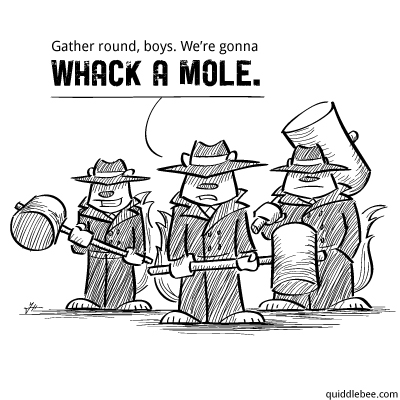 Mob Enforcement comics  squirrel mole mob game crime  cart