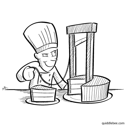 Revolutionary French Cuisine comics  restaurant cake  cartoon