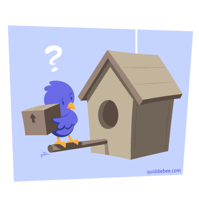 Moving Day Mismatch comics  house bird  cartoon