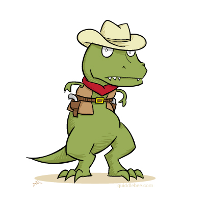 Tex Rex comics  dinosaur cowboy  cartoon