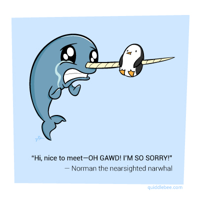 Funny Narwhal Cartoon   Photo#9