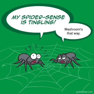 Arachnid ESP comics  superhero spider call of nature  cartoon
