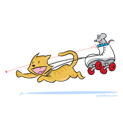Feline Locomotion comics  shoe mouse cat car  cartoon